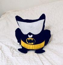 Jeansstoff, Filz und SnapPap - aus Eule wird Batman Kuscheltier - Tutorial