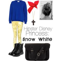"""Hipster Disney princess: Snow White"" by obsessivelove on Polyvore"