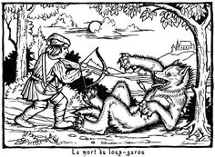 Based on old medieval woodcuts of werewolves.