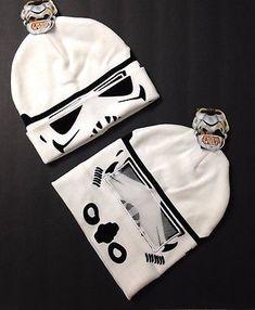 New STORM TROOPER ROLL-DOWN MASK BEANIE Star Wars Winter Knit Ski Hat Men/Women