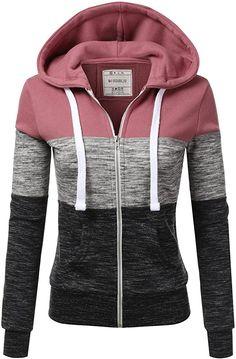 Hmarkt Women Pullover Solid Color Hooded Adorable Sweatshirt Jacket Coat