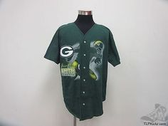 Vtg 90s Badger Green Bay Packers Button Up Jersey sz XL Extra Large Football NFL Vintage by TCPKickz on Etsy