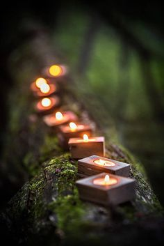 Our Tea Light Block candle holders add the perfect warm romantic touch to a centerpiece or table dis Candle Holders Wedding, Tealight Candle Holders, Candle Lanterns, Candles, Fairy Lights, Tea Lights, Terra Verde, Wooden Window Frames, Deco Zen