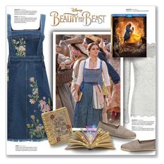 """""""Disney's 'Beauty and the Beast': Belle"""" by kellylynne68 ❤ liked on Polyvore featuring Alexander McQueen, Rosemunde, Disney, Judith Leiber, TOMS, belle, BeautyandtheBeast and contestentry"""