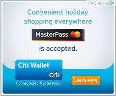 Mastercard + Citibank Banner ad