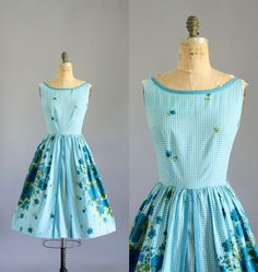 RESERVED Vintage 50s Dress/ 1950s Cotton by WhenDecadesCollide, $128.00