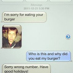 "The best ""wrong number"" text I've ever received."