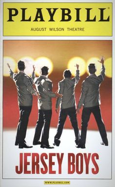 Jersey Boys Playbill Covers on Broadway - still in 2014 running strong! Terrific show you'll want to sing all the songs with the terrific cast! Broadway Tickets, Broadway Nyc, Broadway Plays, Broadway Theatre, Musical Theatre, Broadway Shows, John Lloyd Young, Las Vegas, Frankie Valli
