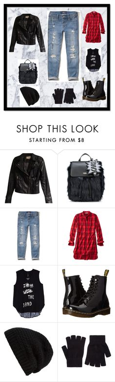 """""""grunge"""" by aguiar-pilutti on Polyvore featuring moda, Zara, Karl Lagerfeld, Hollister Co., L.L.Bean, Melissa McCarthy Seven7, Dr. Martens, Rick Owens, Accessorize y plus size clothing"""
