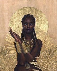 Art Black Love, Black Girl Art, Art Girl, Art Magique, Black Art Painting, Black Girl Cartoon, Black Art Pictures, Goddess Art, Black Goddess