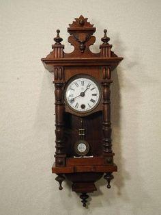 6)古い掛時計ユンハンス柱時計検昭和レトロアンティーク Watch wall clock ¥1200yen 〆05月02日