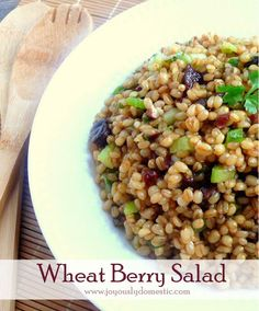 Joyously Domestic: Wheat Berry Salad - http://delectablesalads.com/joyously-domestic-wheat-berry-salad/