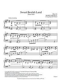 Sweet Beulah Land - Downloadable Piano Arrangement   Wolaver, Bill   LifeWay Christian