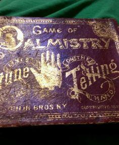 Fata's Vardo:  Vintage Game of #Palmistry & #Fortune #Telling, circa 1887.