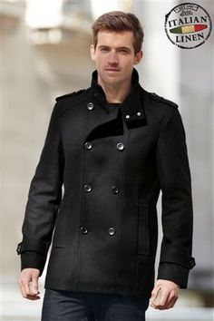 Buy Black Wool Rich Double Breasted Coat from the Next UK online shop