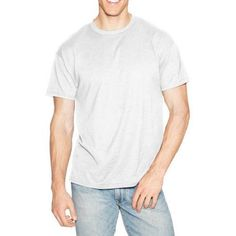 Hanes Men's X-Temp Short Sleeve Tee, Size: XL, White