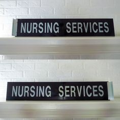 VTG 1970s Industrial Sign Asylum Hospital Double Side Nursing Services Plexi   #Industrial Industrial Signs, Industrial Metal, Metal Signage, Asylum, Plexus Products, 1970s, Nursing, Vintage, Vintage Comics
