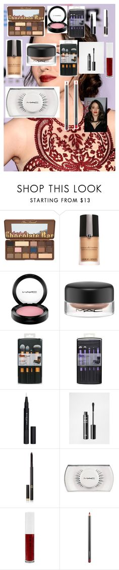 """""""Kat Dennings - Makeup Tutorial"""" by zoellaispretty on Polyvore featuring beauty, Armani Beauty, MAC Cosmetics, Givenchy, NYX, Tom Ford and Obsessive Compulsive Cosmetics"""