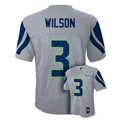 Russell Wilson Seattle Seahawks Grey Youth Jersey Large 14-16  https://allstarsportsfan.com/product/russell-wilson-seattle-seahawks-grey-youth-jersey-large-14-16/  Youth Player Jersey Team Logo and Player Number on Back Player Name and Number on Back