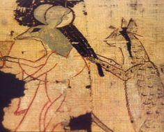 Papyrus satyrique - chat coiffant une souris - Musée du Caire                                                                                                                                                                                 Plus