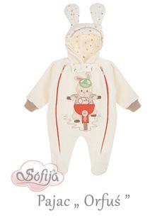 Ocieplany pajacyk Orfuś  www.sofija.com.pl  #sofija #pajacyk #kombinezon #dziecko #ubrania #kidsfashion #baby #babymode #kindermode #kinder #ребенок #мода #vaikas #çocuk