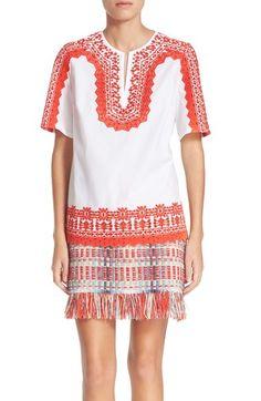 TORY BURCH 'Isla' Embroidered Stretch Cotton Tunic. #toryburch #cloth #