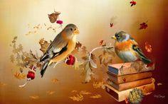 HD Wallpaper Autumn Birds