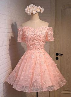 Pink Prom Dress,Lovely Prom Dresses,Party Dress For Girls,Off Shoulder Prom Dress,homecoming Dress on Luulla Dama Dresses, Lace Homecoming Dresses, Quince Dresses, Tulle Prom Dress, Prom Party Dresses, Short Dresses, Girls Dresses, Formal Dresses, Graduation Dresses