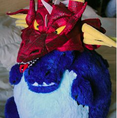 Double dragon all the way across the bed! Double the awesome and double the geek! #squishable #cutengeeky