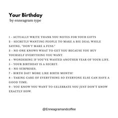 My birthday is coming up this weekend but I've been celebrating all month long. I thought that felt like such a 7 thing to do. Type 7 Enneagram, Enneagram Test, Personality Psychology, Mbti Personality, Its My Birthday Month, Birthday Quotes For Me, Funny Quotes, Words, Memes