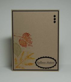 CAS130, CC335, Autumn Leaves by Missro - Cards and Paper Crafts at Splitcoaststampers
