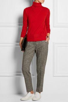 Totême | Ivréa merino wool and silk-blend turtleneck sweater | NET-A-PORTER.COM
