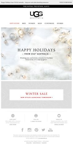 Ugg holiday email 2013