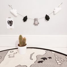 Mountain Bear Garland - Grey with Clouds