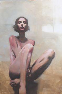 "Michael Carson, ""Bare"", 30"" x 20"", Oil on Panel Bonner David Galleries"