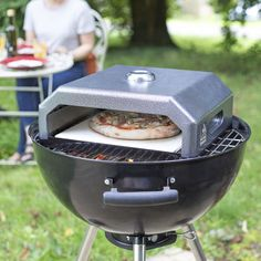 Portable Gourmet Bbq Pizza Oven by Garden Leisure, the perfect gift for Explore more unique gifts in our curated marketplace. Portable Pizza Oven, Charcoal Bbq Grill, Grill Parts, Oven Canning, Gas Bbq, Built In Grill, Outdoor Parties, Outdoor Cooking, Grilling