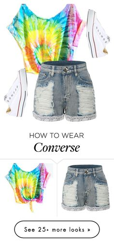 """""""Untitled #571"""" by deima-835 on Polyvore featuring LE3NO and Converse"""