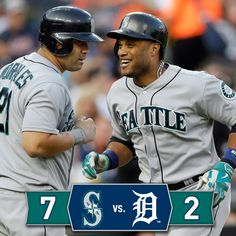 Four #Mariners record multi-hit games as they top the #Tigers 7-2. 8/15/14