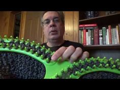 Loom Knit Chevron Stitch in the Ripple and Ridge Afghan pattern - YouTube