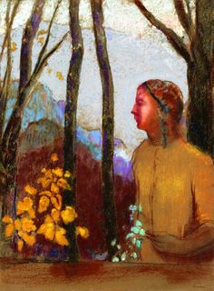 Evocation (also known as Woman at the Mountain)  Odilon Redon -
