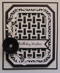 Inky Finger Zone: Birthday Wishes - March 2015 Card Making Inspiration, Making Ideas, Birthday Wishes, Birthday Cards, Sue Wilson Dies, Paper Weaving, Spellbinders Cards, Card Companies, Die Cut Cards