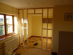 Here's a step by step guide of how I installed a stud wall for a customer yesterday. This is going to make a large walk-in wardrobe with lo...