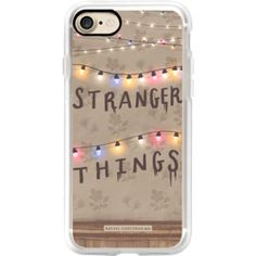 Stranger Things Illustration by Rachel Corcoran - Rachillustrates - 1980s Retro TV Show Christmas Holiday Lights - iPhone 7 Case, iPhone 7 Plus Case,
