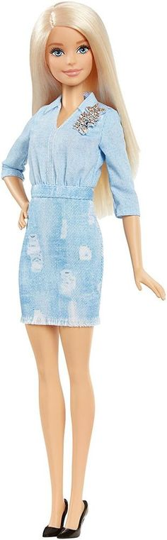 NEW! 2016 Barbie Evolution Fashionistas Blonde Double Denim Doll #Mattel