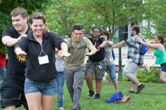 Freshmen orientation activities during a SOAR session over the summer