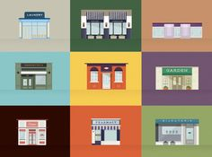 Stores #flat #color