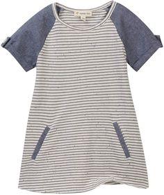 Tucker + Tate Knit to Woven Striped Dress (Toddler, Little Girls, & Big Girls)