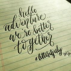 #letteritjuly combo  #bettertogether#handlettered #handlettering #moderncalligraphy #calligraphy #PeachpodPaperie #monday #vacay #mcfarlandpartyof2 #letters #adventure #typeface #typography #tombowusa  Pen: Tombow Fudenosuke by sarahmcfarland14