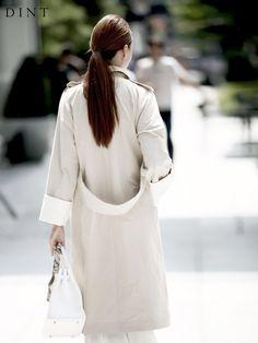 スタイリッシュなあなたのための[DINT]、婦人服専門店。 OUTER COAT J-3599ダブルボタン配色BBY(飾りset)(当日出荷)