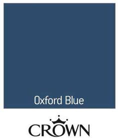 Find Crown Oxford Blue - Non Drip Gloss Paint - at Homebase. Visit your local store for the widest range of paint & decorating products. Blue Paint Colors, Colours, Guest Bedroom Decor, Oxford Blue, Gloss Paint, Front Door Colors, Reception Rooms, House Colors, Primroses